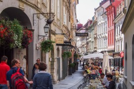Restaurants in the Old Town of Ljubljana